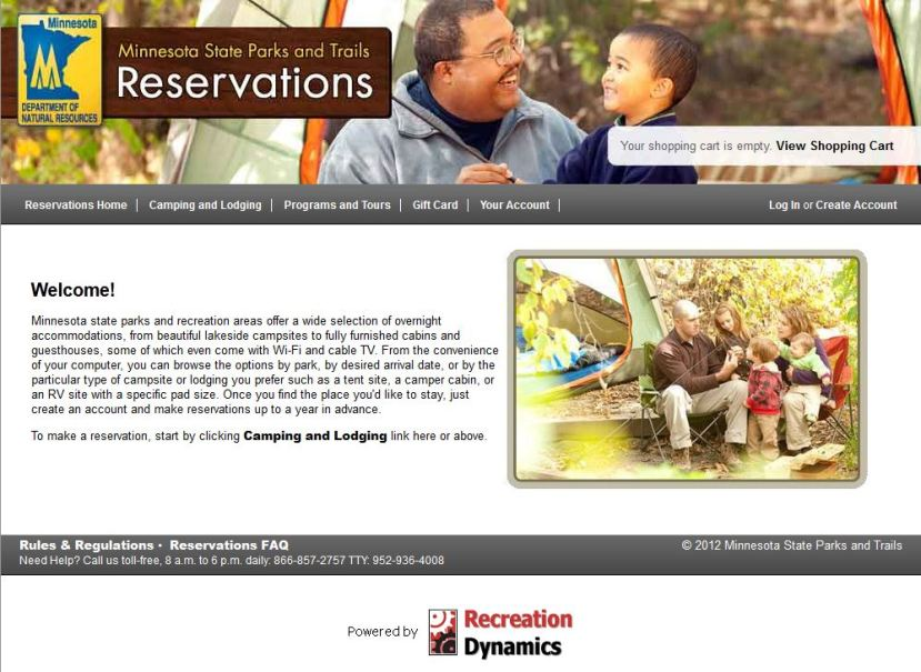 Reservations website